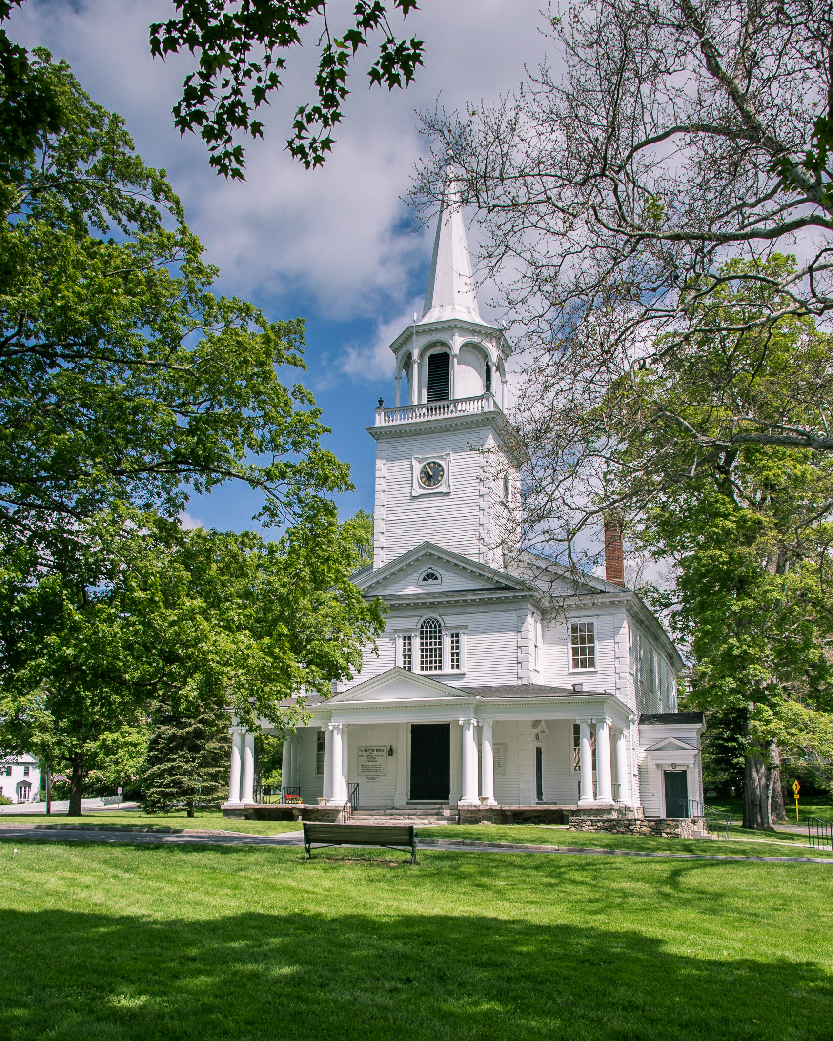 The Meeting House on the Washington Green is the historic icon of an idyllic New England countryside.