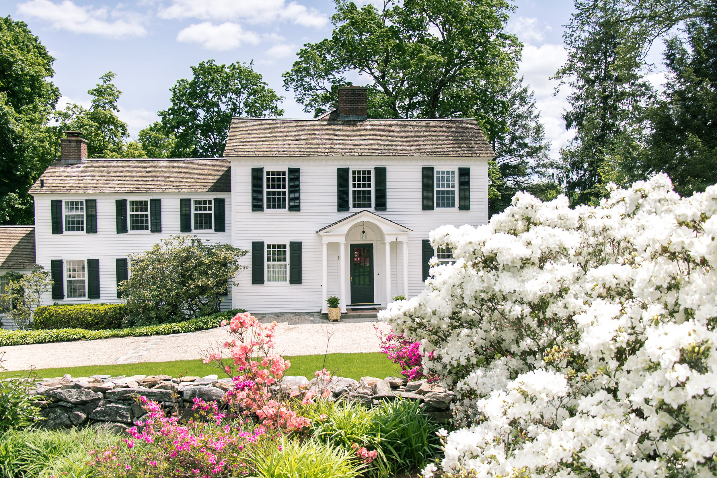 History preserved. A home near the Washington Green is an impeccably maintained example of the colonial architecture prevalent in the area.
