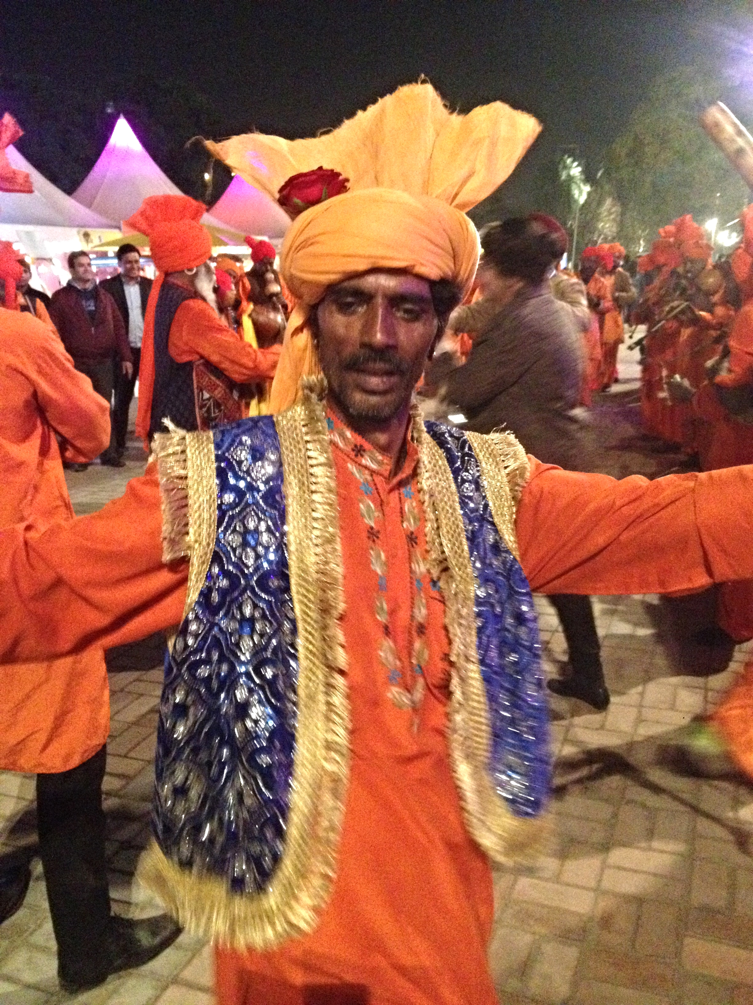 Dancer at the GiG entertaining carnival go-ers