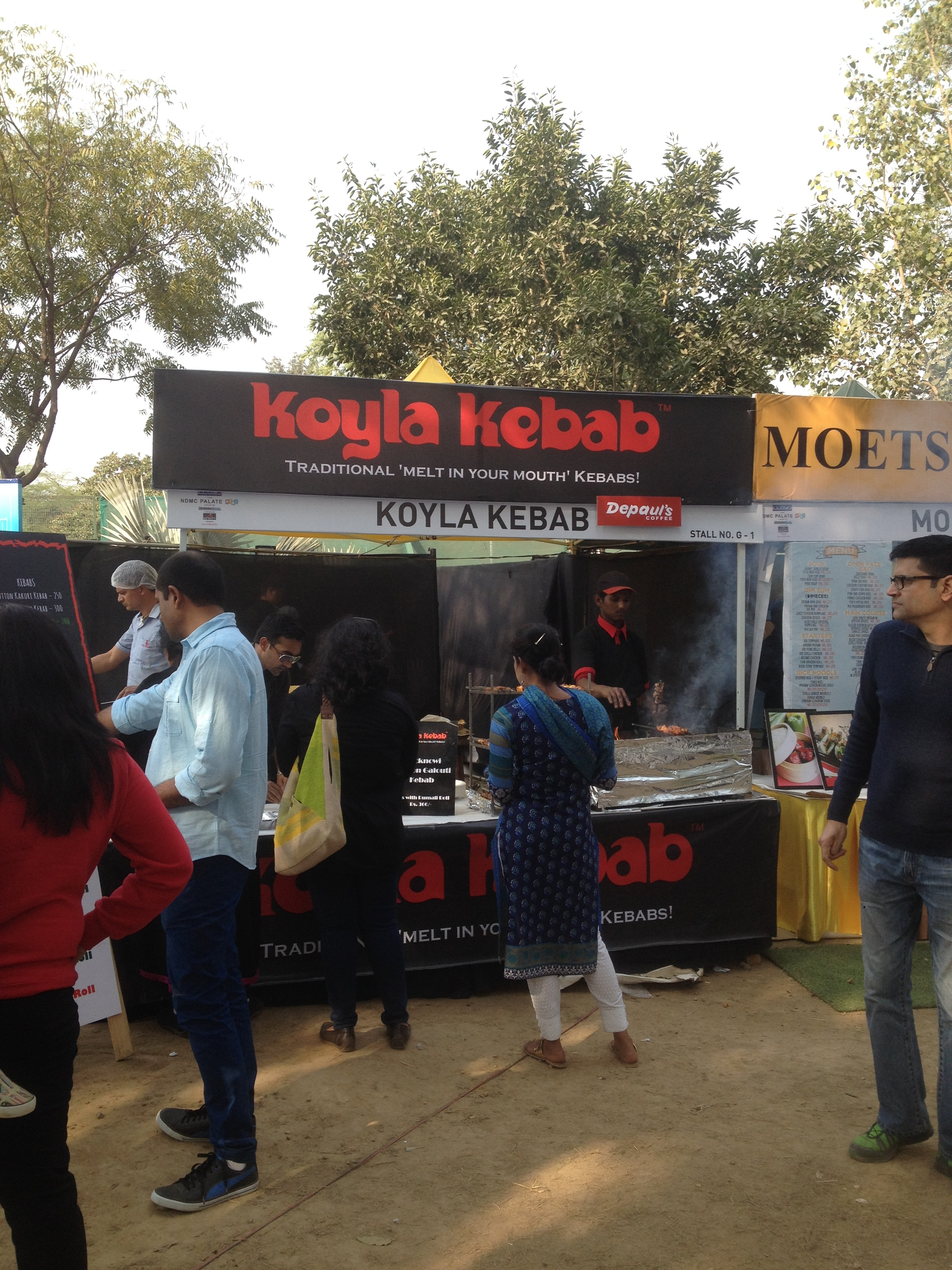 Koyla Kebabs churning out Kebab rolls like clock work
