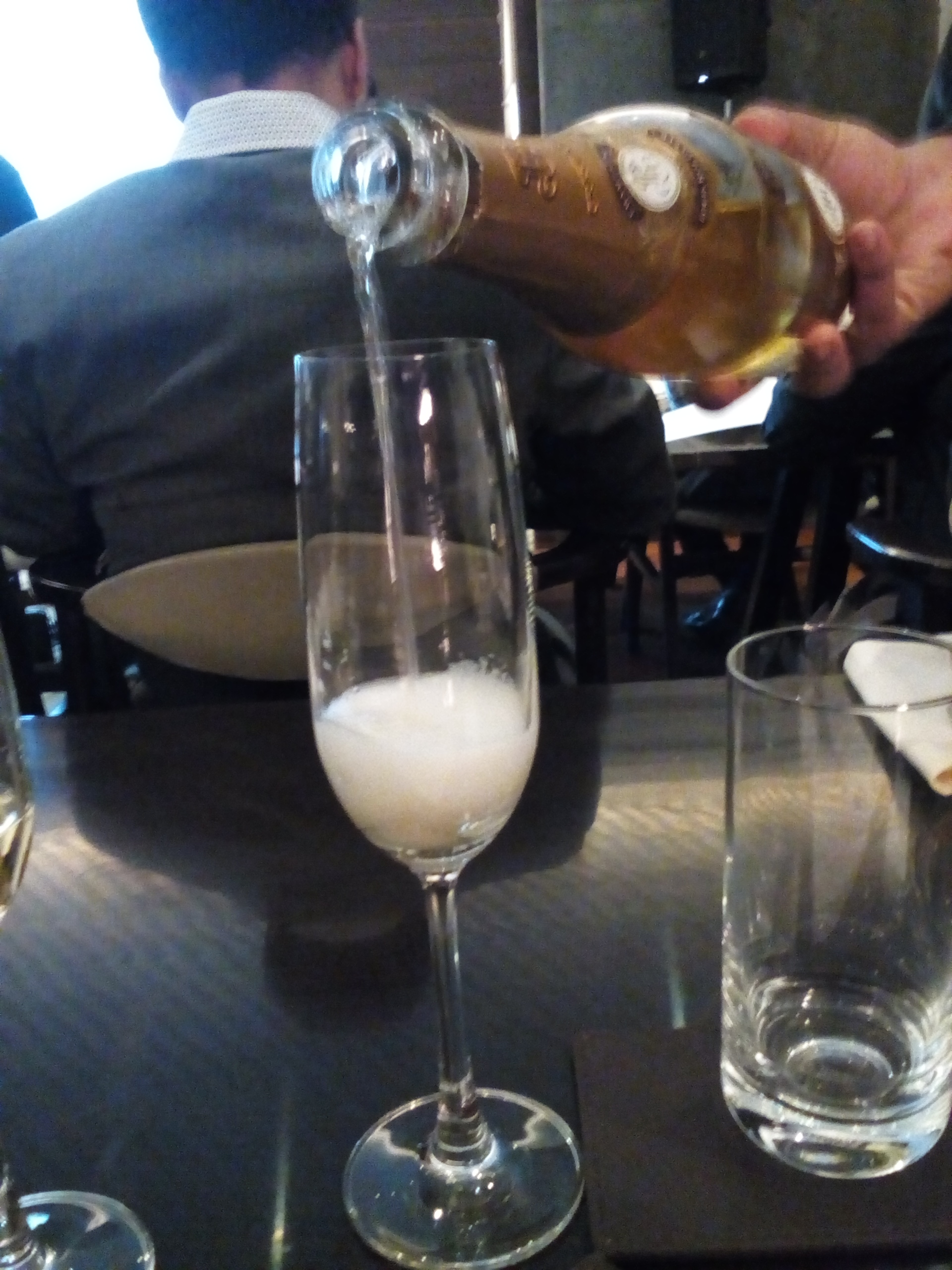 The Cristal 2009 being Poured