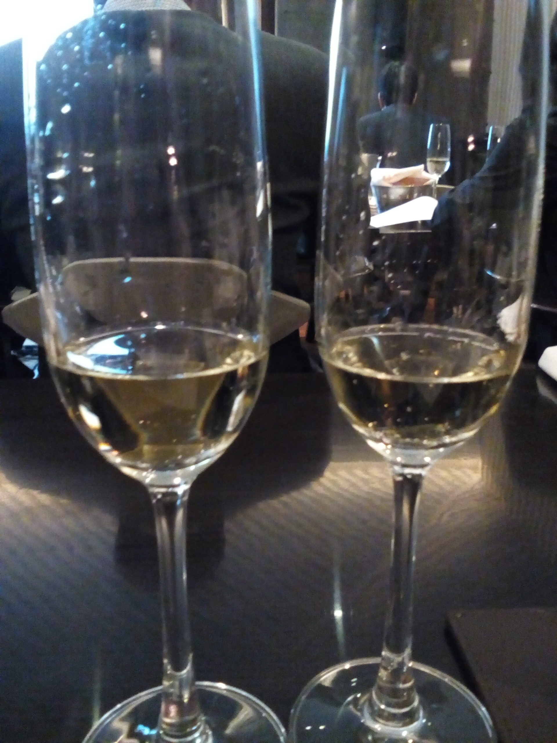 Brut NV and Cristal 2009 respectively