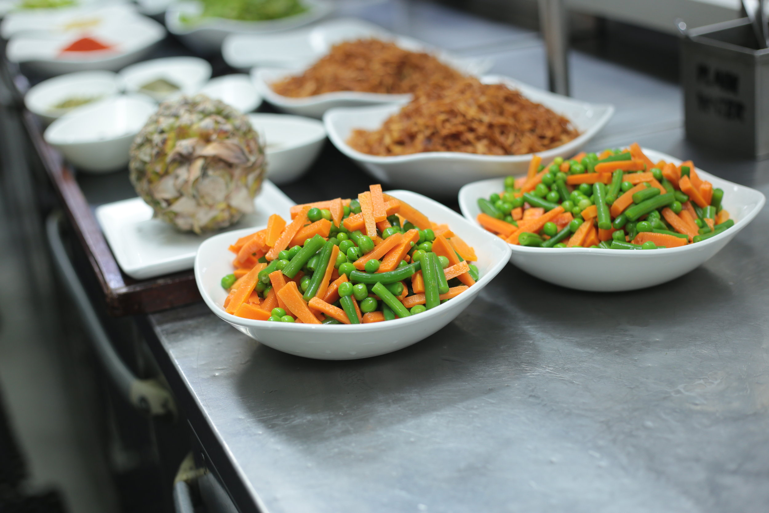 Vegetables for the biryani