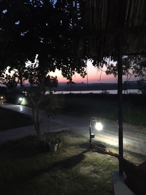 Dawn in Bhuj, View from out cottage