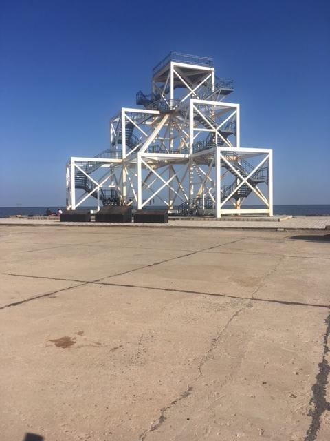Observation platform at the edge of the White Rann