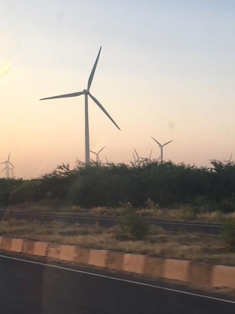 A windmill farm en route to the Saurashtra peninsula
