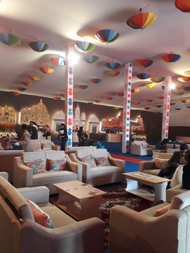 Reception, Indiraprastham tent city