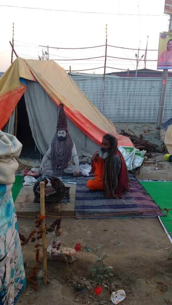 A Naga Sadhu: Pic credit Ms L. Sharma