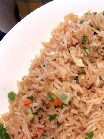 Wok Fried Rice with Flavoured with Ginger and Celery