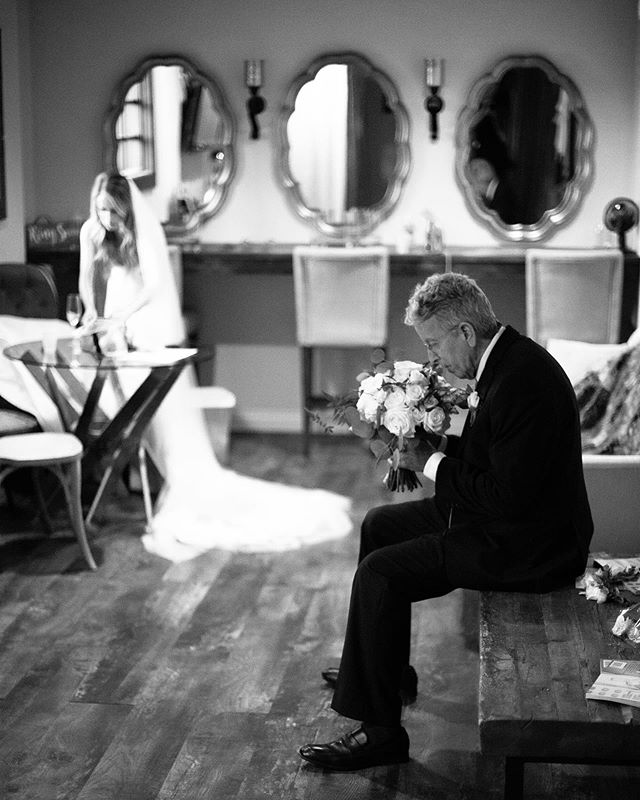 Never forget to stop and smell the roses. 🌹 Sweetest dad, David, patiently waiting to walk his daughter Tai down the isle 💕 . . . . . Venue: @lorimarweddings Coordination: @cara_mgeweddings for @michellegaribayevents Photography: @nsweddingphoto  Video:  @blackshuttermedia Farm Table Rentals: @rusticurbanevents Floral Design: @soireefloraldesign DJ/MC: @csquareddj_lighting Beauty: @hairandmakeupbysydney Bakery: @sugardivazdessertboutique Dress: @missstellayork by @essenseofaustralia Groom's attire: @friartux Bride + Groom: @taiparker @mydawg89  #happyfathersday #sandiegophotographer #northcountysdphotographer #portraitphotographer #blackandwhite #ourweddingday #weddinginspo #thewait #downtheisle #daddysgirl #dadsday #nsweddings