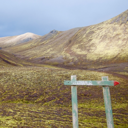 A signpost on a hike I did in Iceland. Proud to say I did not get lost. On that particular day.