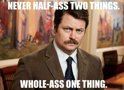 The great Ron Swanson of  Parks and Recreation