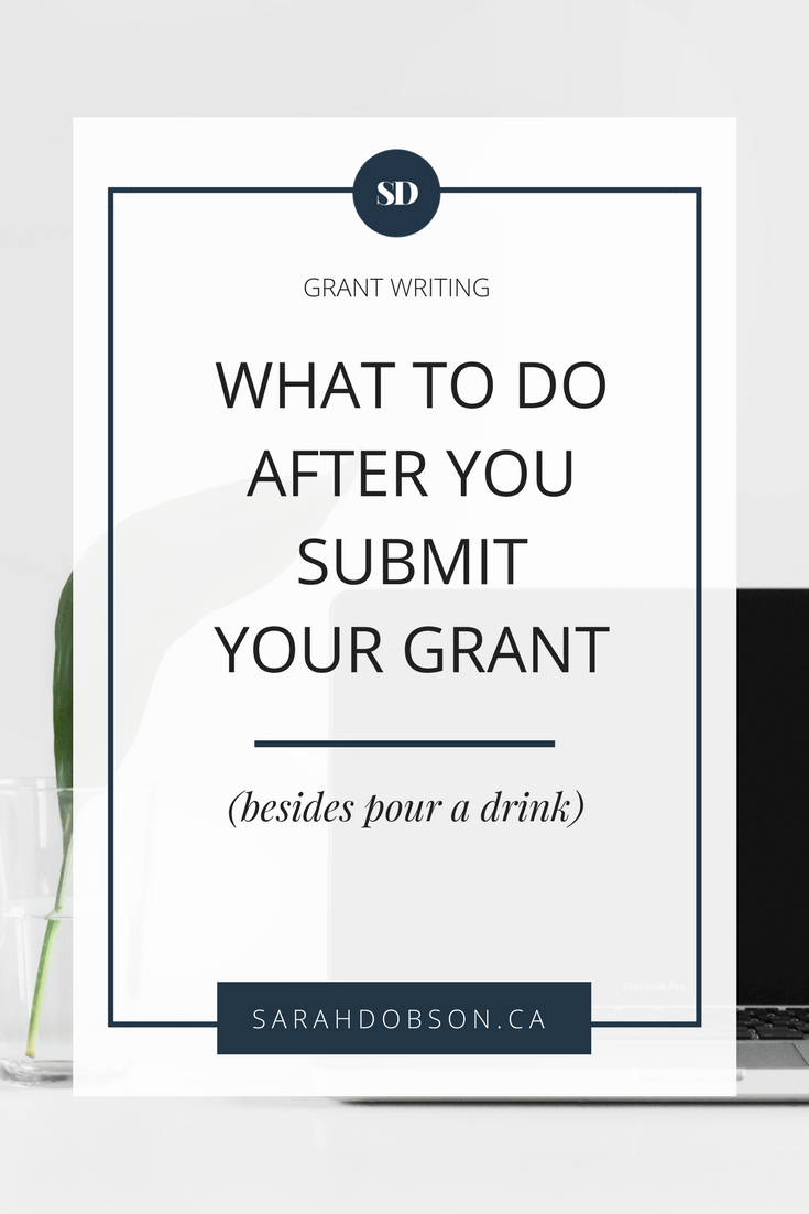 What to do after you submit your CIHR grant