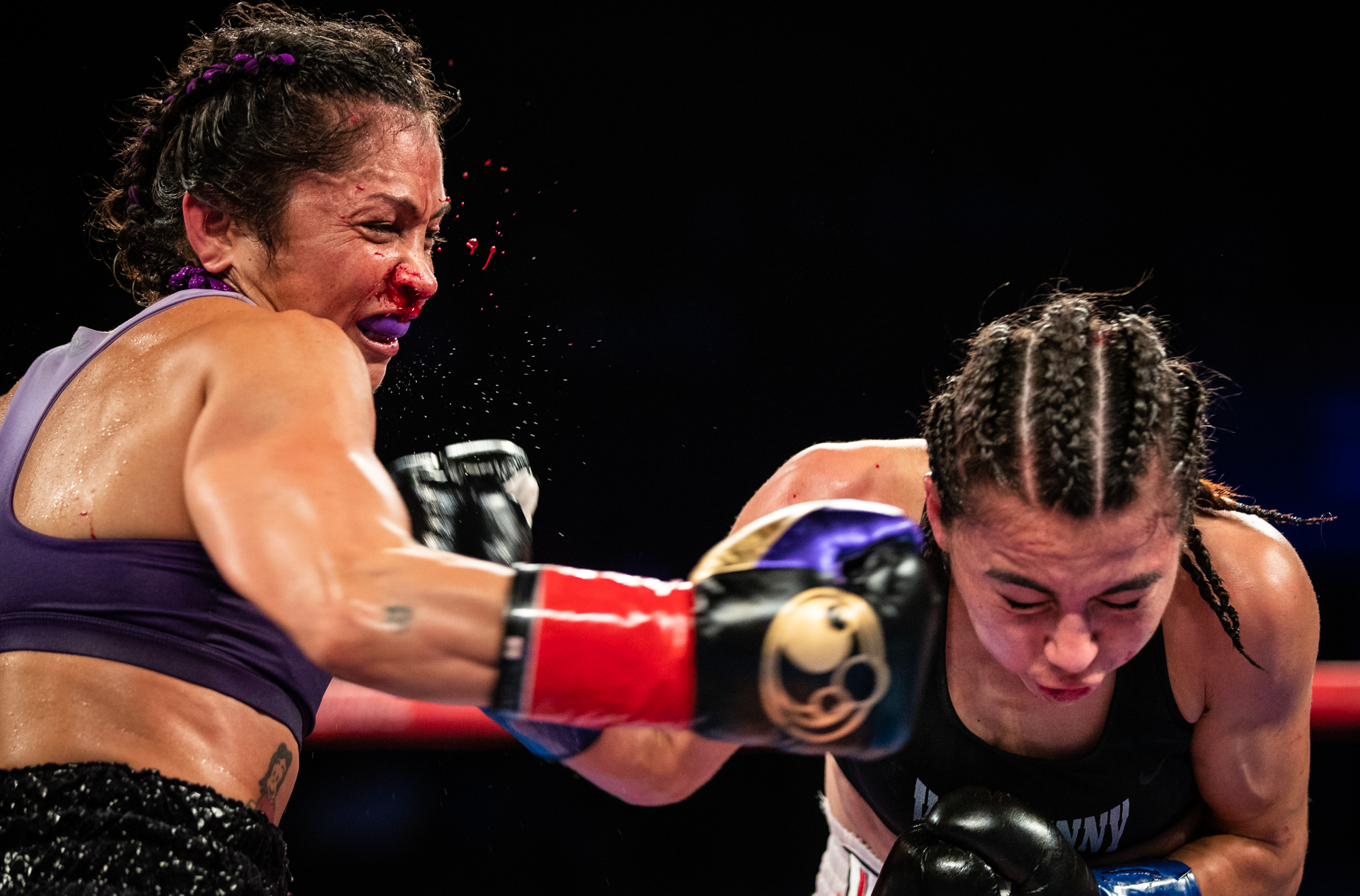 WBC Atomweight boxer Louisa Hawton of Perth, Australia fights Brenda Flores of Tijuana, Mexico at The Forum on September 8, 2018 in Inglewood, California.