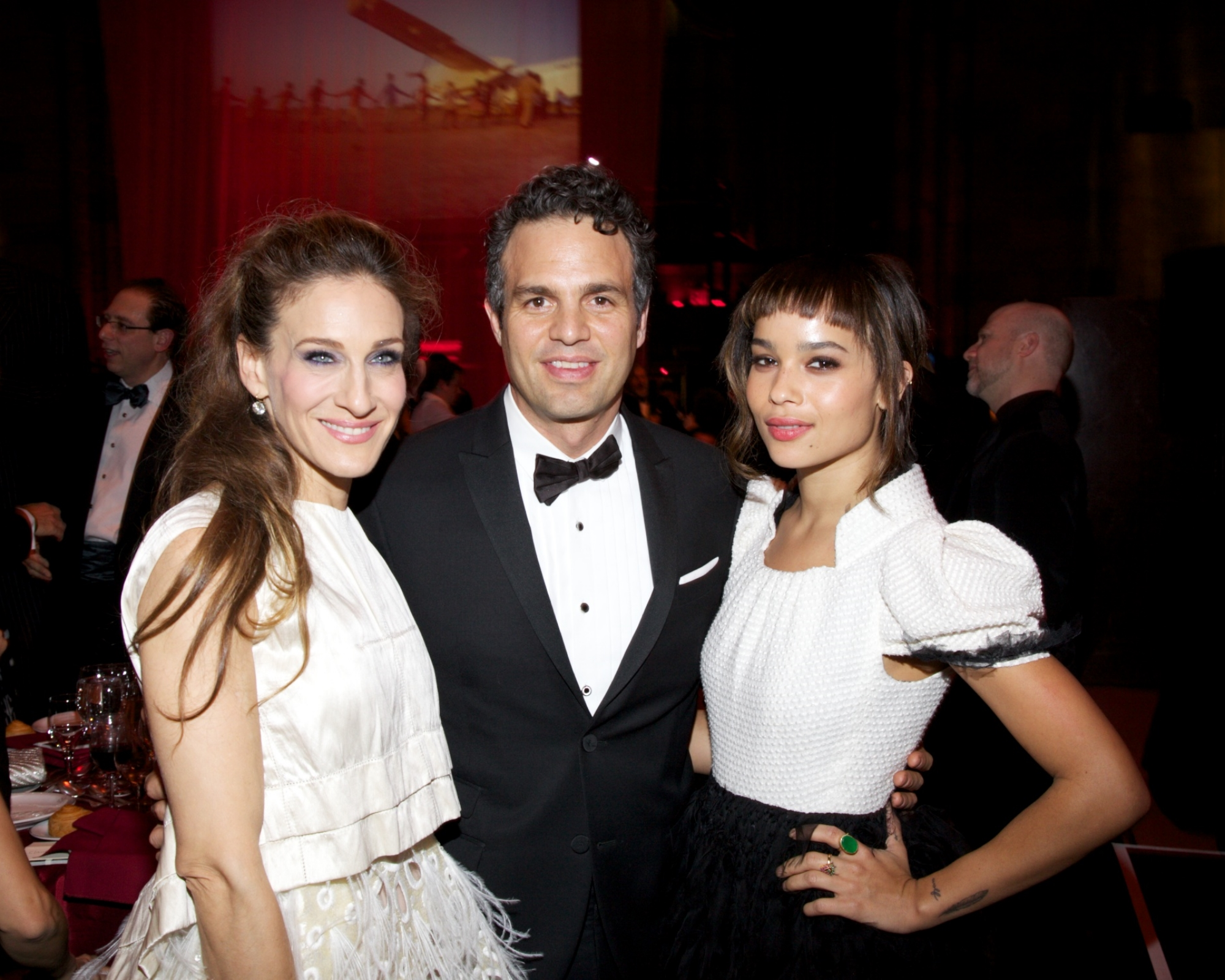 UNICEF Ambassador Sarah Jessica Parker, Mark Ruffalo, and Zoe Kravitz ©2011 Julie Skarratt Photography, Inc./U.S. Fund for UNICEF