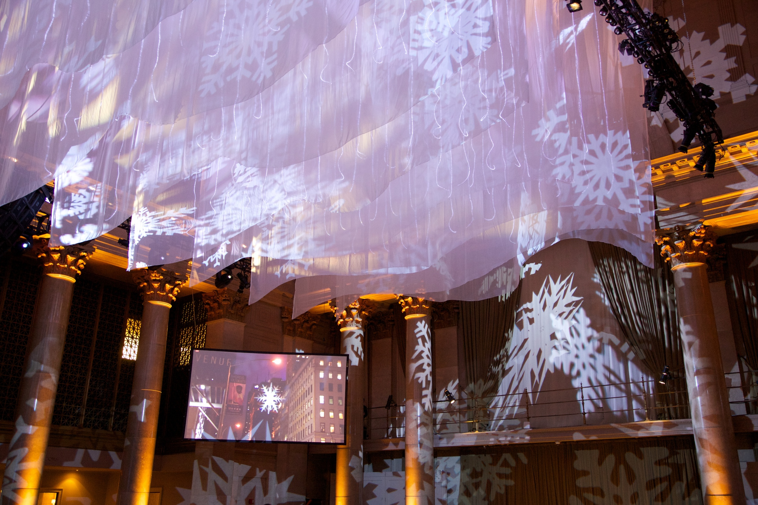 Decor at the 11th Annual UNICEF Snowflake Ball ©2015 Julie Skarratt Photography, Inc./U.S. Fund for UNICEF