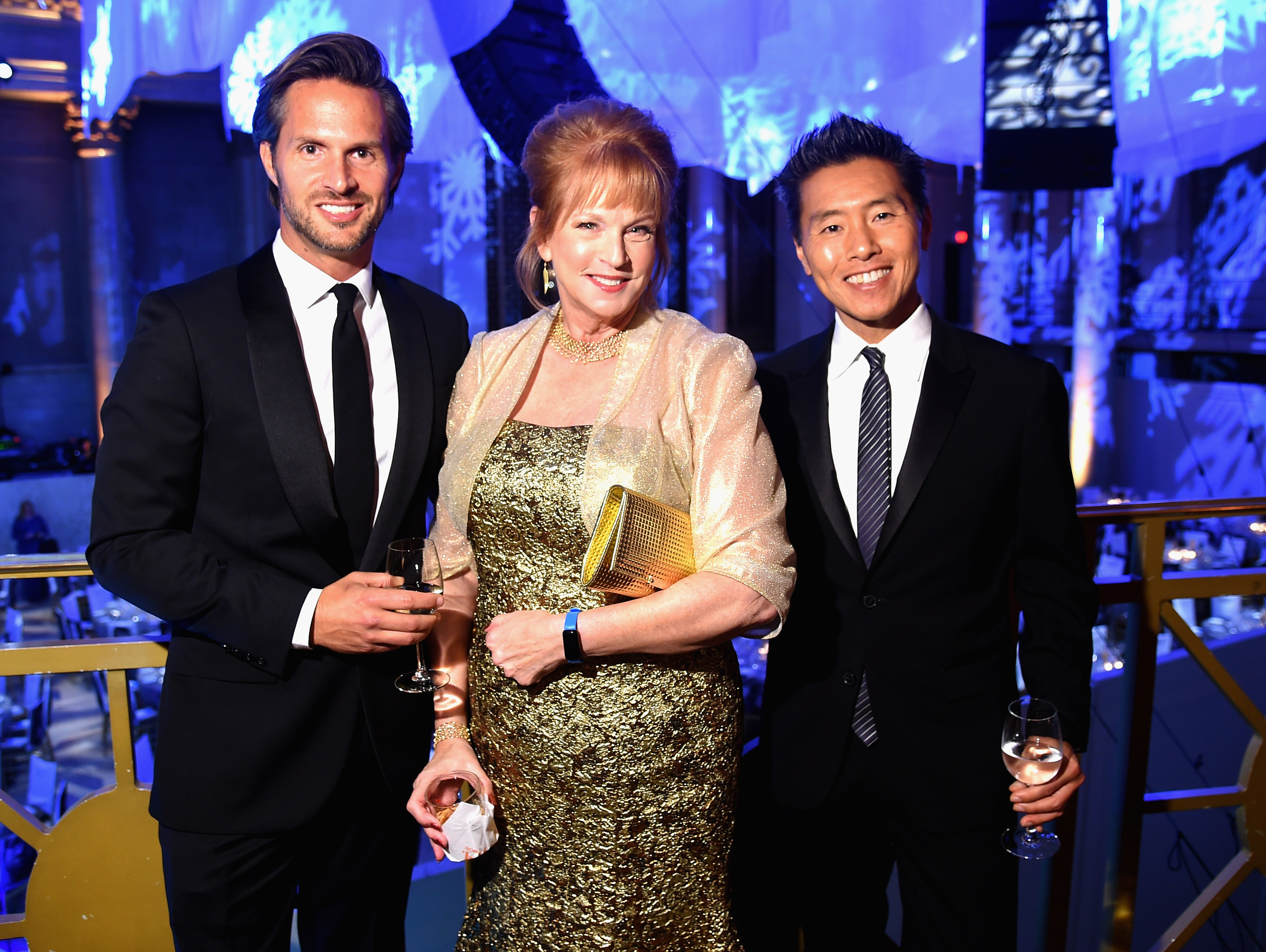 Craig Koch, UNICEF Snowflake Ball Patron Christine Stonbely, and UNICEF Ambassador and UNICEF Snowflake Ball Decor Designer Vern Yip ©2015 Michael Loccisano/Getty Images for UNICEF
