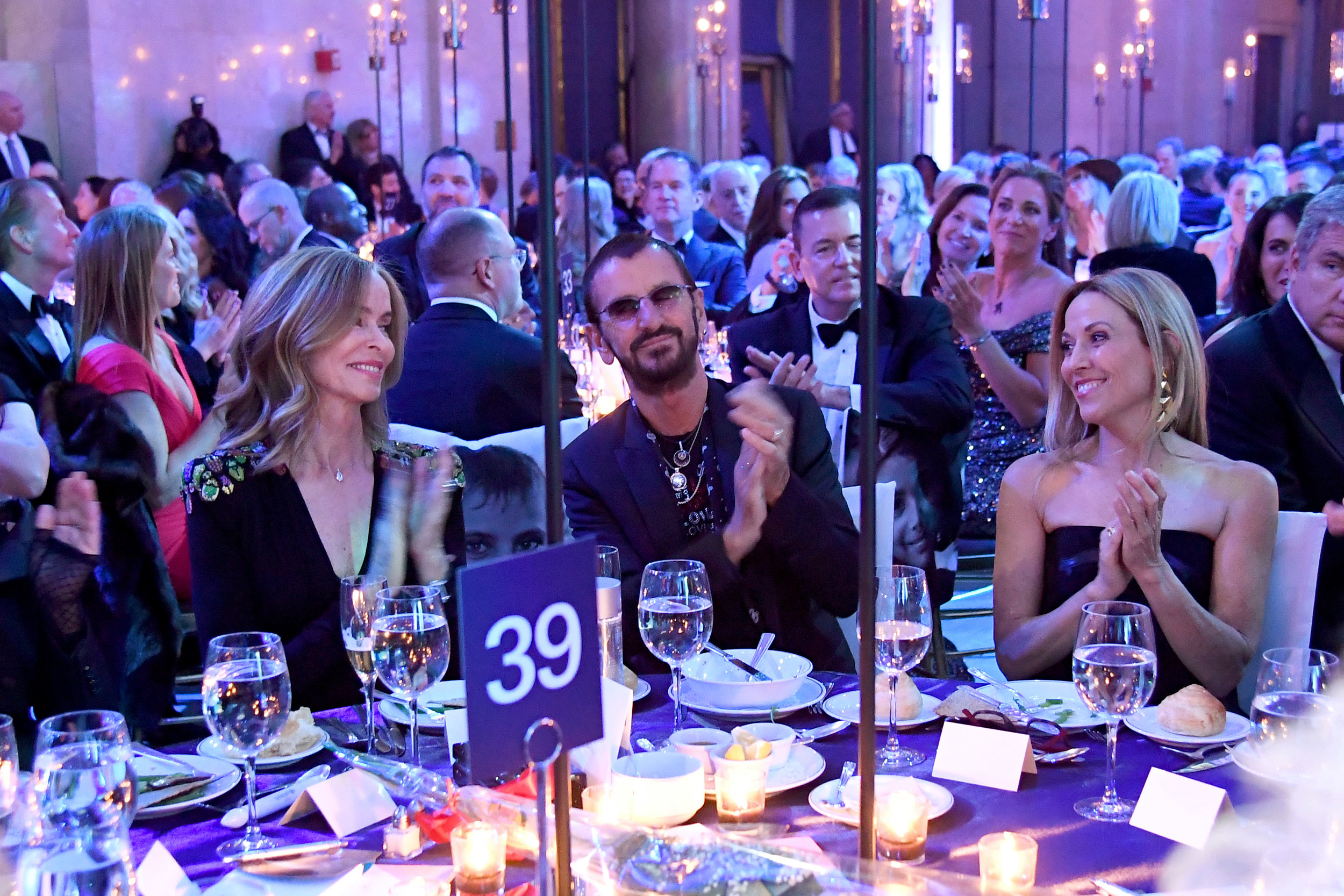 NEW YORK, NY - NOVEMBER 27: (L-R) Barbara Starkey, Honoree Sir Ringo Starr, and Sheryl Crow attend the 14th Annual UNICEF Snowflake Ball 2018 on November 27, 2018 in New York City. (Photo by Nicholas Hunt/Getty Images for UNICEF)