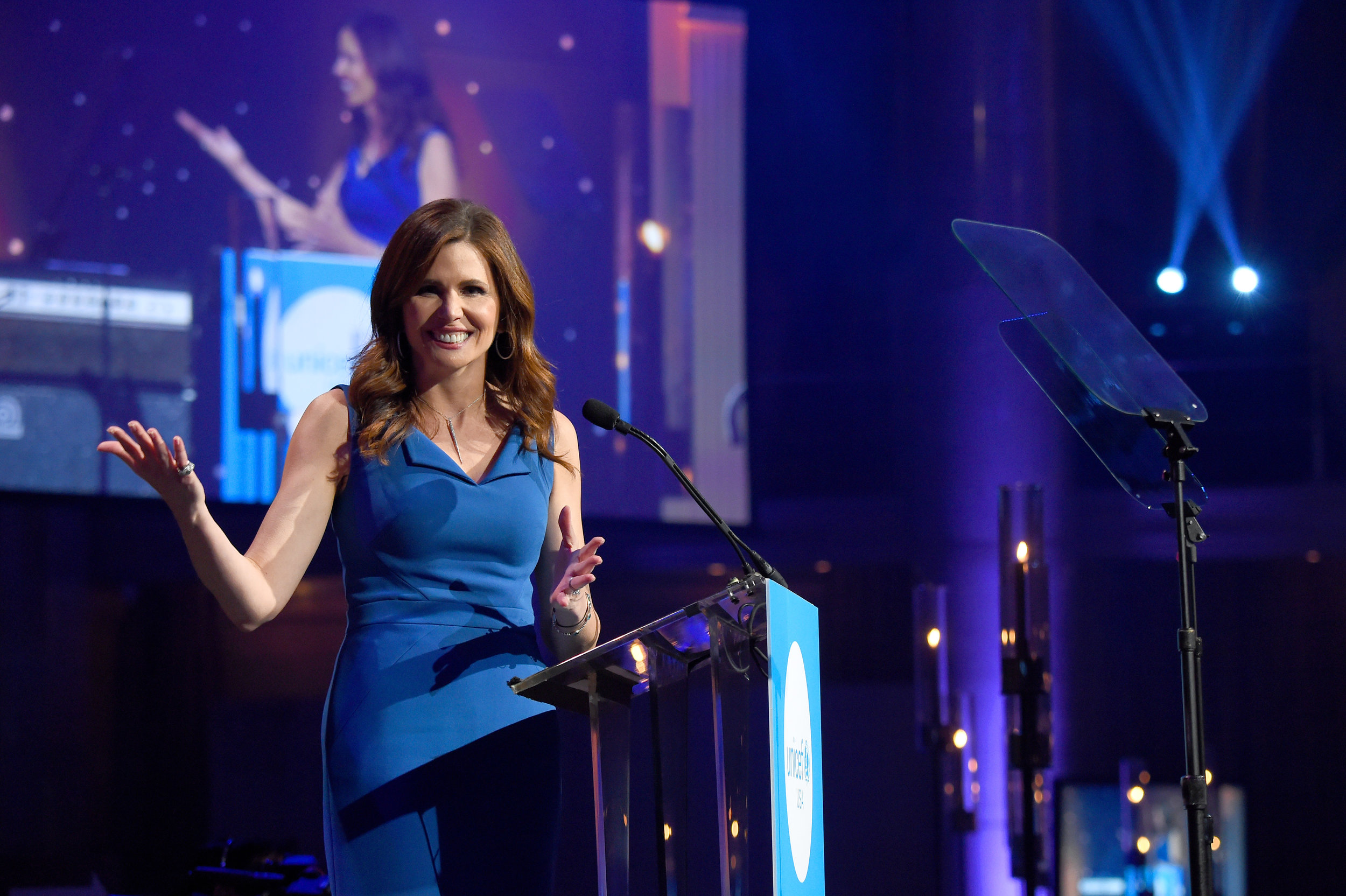 NEW YORK, NY - NOVEMBER 27: Honoree Desiree Gruber speaks onstage during the 14th Annual UNICEF Snowflake Ball 2018 on November 27, 2018 in New York City. (Photo by Nicholas Hunt/Getty Images for UNICEF)