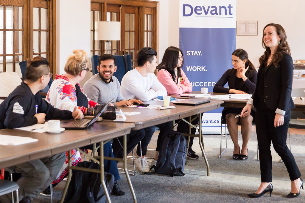 A Devant Kickstart Your Career in Canada workshop for international students hosted in partnership with Huron University College at Western University