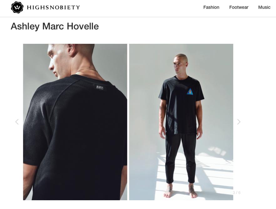 ASHLEY MARC HOVELLE | ESSENTIAL | BOWING BADAGE T-SHIRT | BLACK