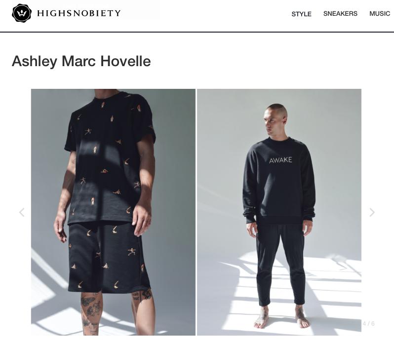 ASHLEY MARC HOVELLE | YOGI REPEAT SHORTS T-SHIRT | AWAKE SWEATSHIRT | BLACK