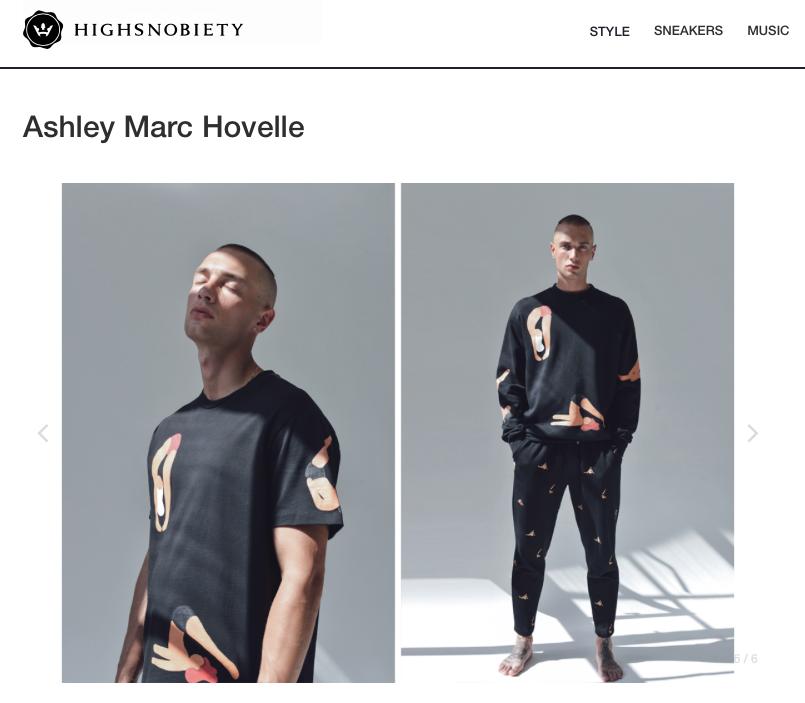 ASHLEY MARC HOVELLE | BIG YOGI'S T-SHIRT SWEATSHIRT | BLACK