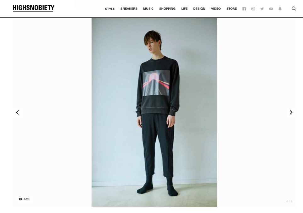 Fly Sunset - Sweatshirt and Linear Pleat Trousers- shop  here
