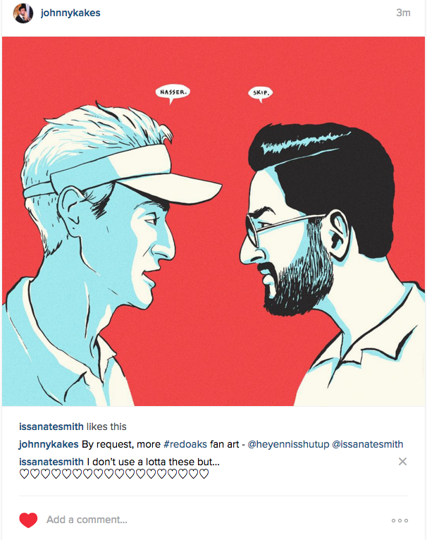 Sweet #Redoaks fan art by @ johnnykakes
