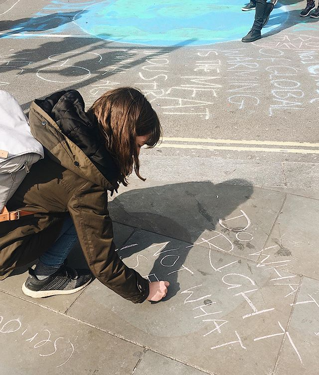 """GLOBAL CLIMATE STRIKE  Tomorrow we will take to the streets in London again to show world leaders that we demand climate justice. That not enough is being done. George Monbiot & Tim Morton recently coined the phrase: """"Be scientifically realistic, demand the politically impossible."""" 💪 🌍 While there was some progress made at the UN Climate Action Summit this week, it is not *nearly* enough. Many countries are still falling short of the targets they committed to in the Paris Agreement. We want action, not false promises! 🌍 Some of the biggest emitters like the US, China and India seemed noncommittal at best. Only 77 of the 193 countries attending said they will cut greenhouse gas emissions to """"net zero"""" by 2050 & many of those 77 are already low emitters. The UK's decision to go ahead with expanding Heathrow is outrageous. 🌍 On the positive side, many wealthy countries announced more money for programs like the UN's Green Climate Fund, a program that helps developing countries reduce their emissions, restore carbon-sequestering ecosystems, & adapt to the unavoidable consequences of global warming.  Bill Gates pledged $790 million to help small-scale farmers adapt to climate change.  30 countries, 22 states, & 21 companies have committed to end their reliance on coal. It's a good start & we are letting them know that we're watching them. Thanks @gretathunberg for putting it so perfectly in your speech! 🌍  Last Friday over 4 million people went on strike for the climate. Will you join tomorrow or support online? 🙌 . . . #climatejustice #globalclimatestrike #climatecrisis #unclimateactionsummit #strikeforclimate"""