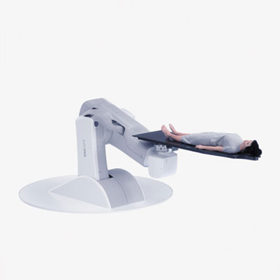 Examove 6F - Floor mounted patient positioning system with 6 degrees of freedom