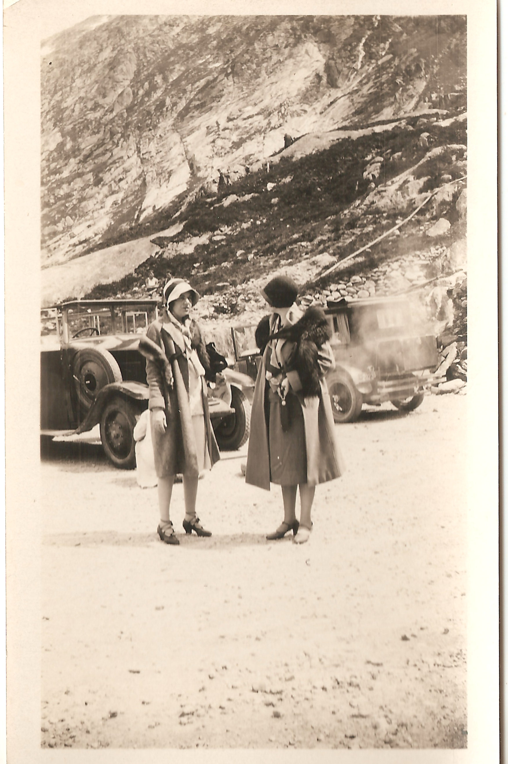 Evelyn Hazen (left) during her travels abroad.