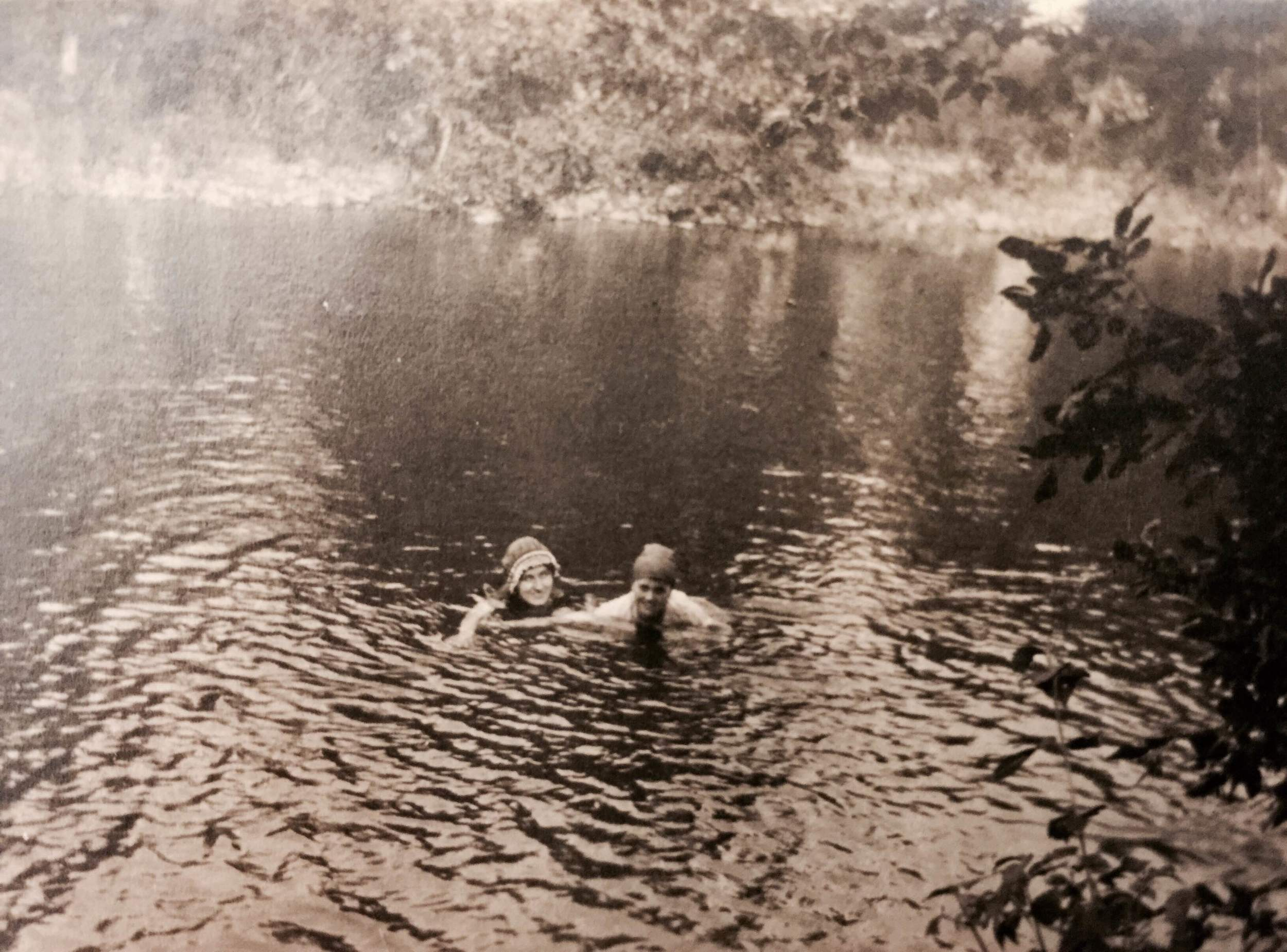 Swimming in a nearby creek Mabry-Hazen Collection