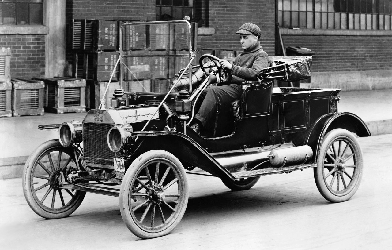 Model T http://www.history.com/this-day-in-history/ford-motor-company-unveils-the-model-t