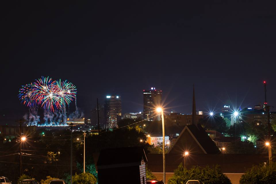Fireworks as seen from Mabry's Hill