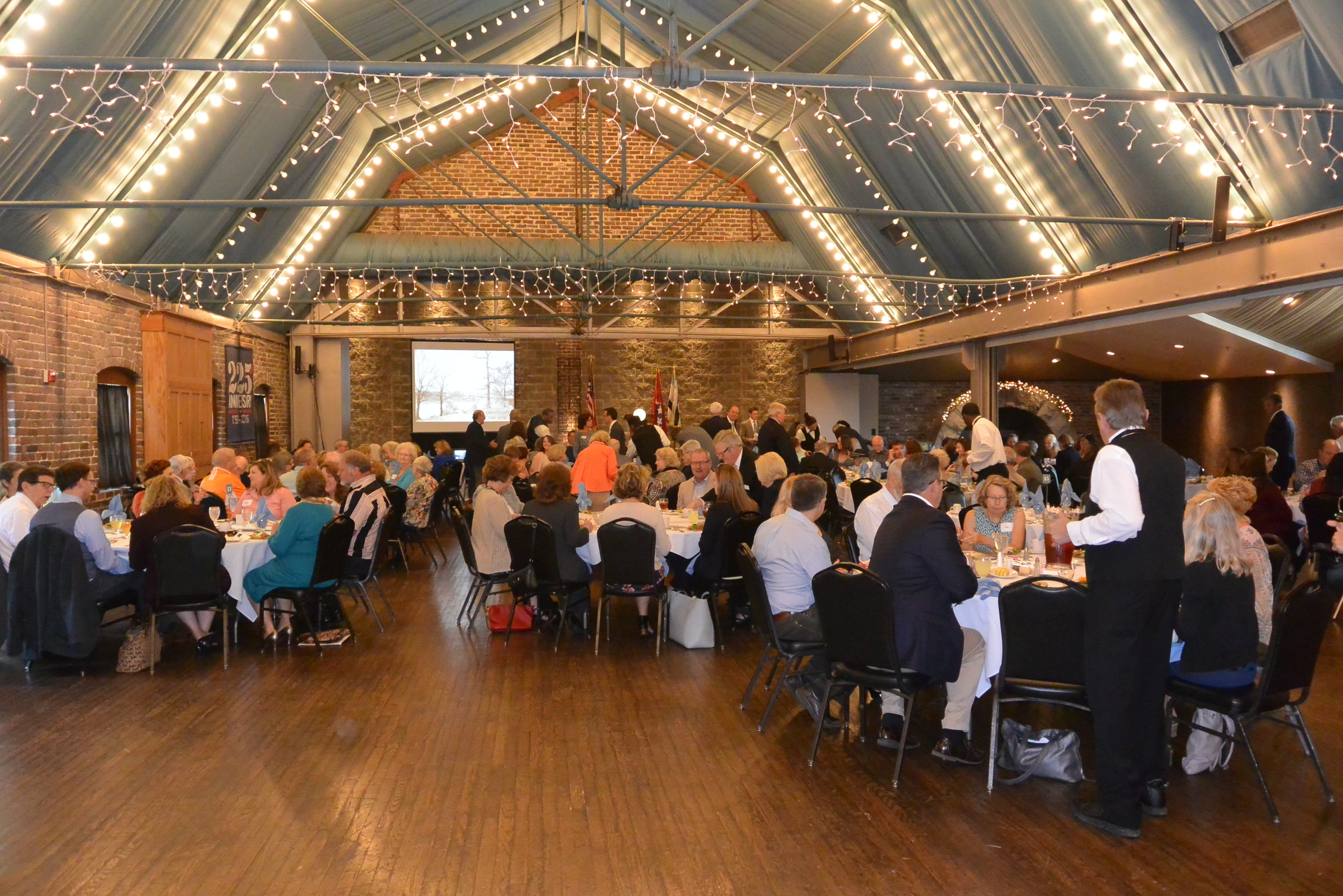 Guests gather for lunch during the 225th Anniversary of the City of Knoxville.