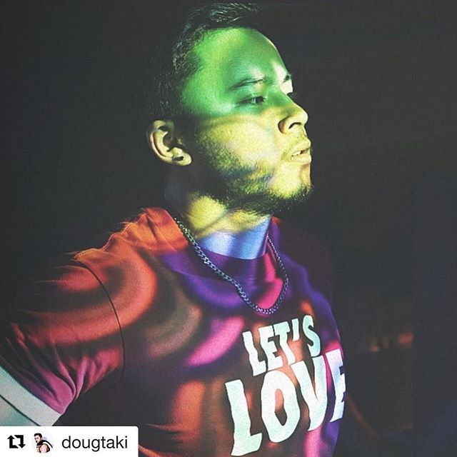 Spot Mr. @dougtaki in our BEAROLOGY Let's Love Tee for the ICONIC shot!  Explore the new EXPERIENCE and build the ATTITUDE. Shout out to our BEAR friend #Repost