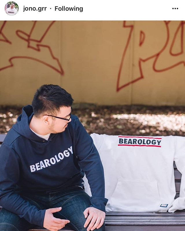 Anyone else looking out for a BEAR? Shout out to Mr. @jono.grr in our BEAROLOGY Classic Hoodie--Navy.  Get your hoodie at http://www.bearology.asia/product/hoodie-white and join him at the bench.