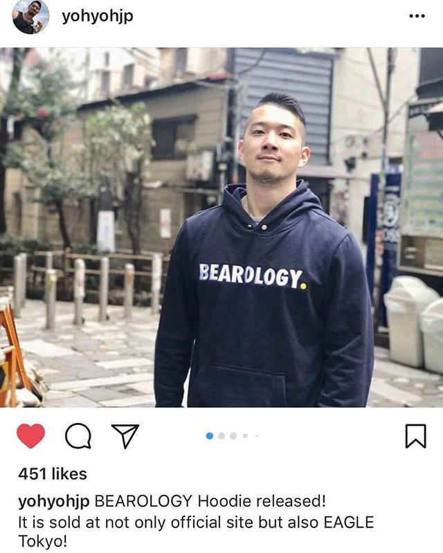 Confident and a hoodie this cool, you need not worry about looking good whereever you go. Spot Mr. @yohyohjp in our Navy hoodie  Get your BEAROLOGY Classic Hoodie and swap it on at http://www.bearology.asia