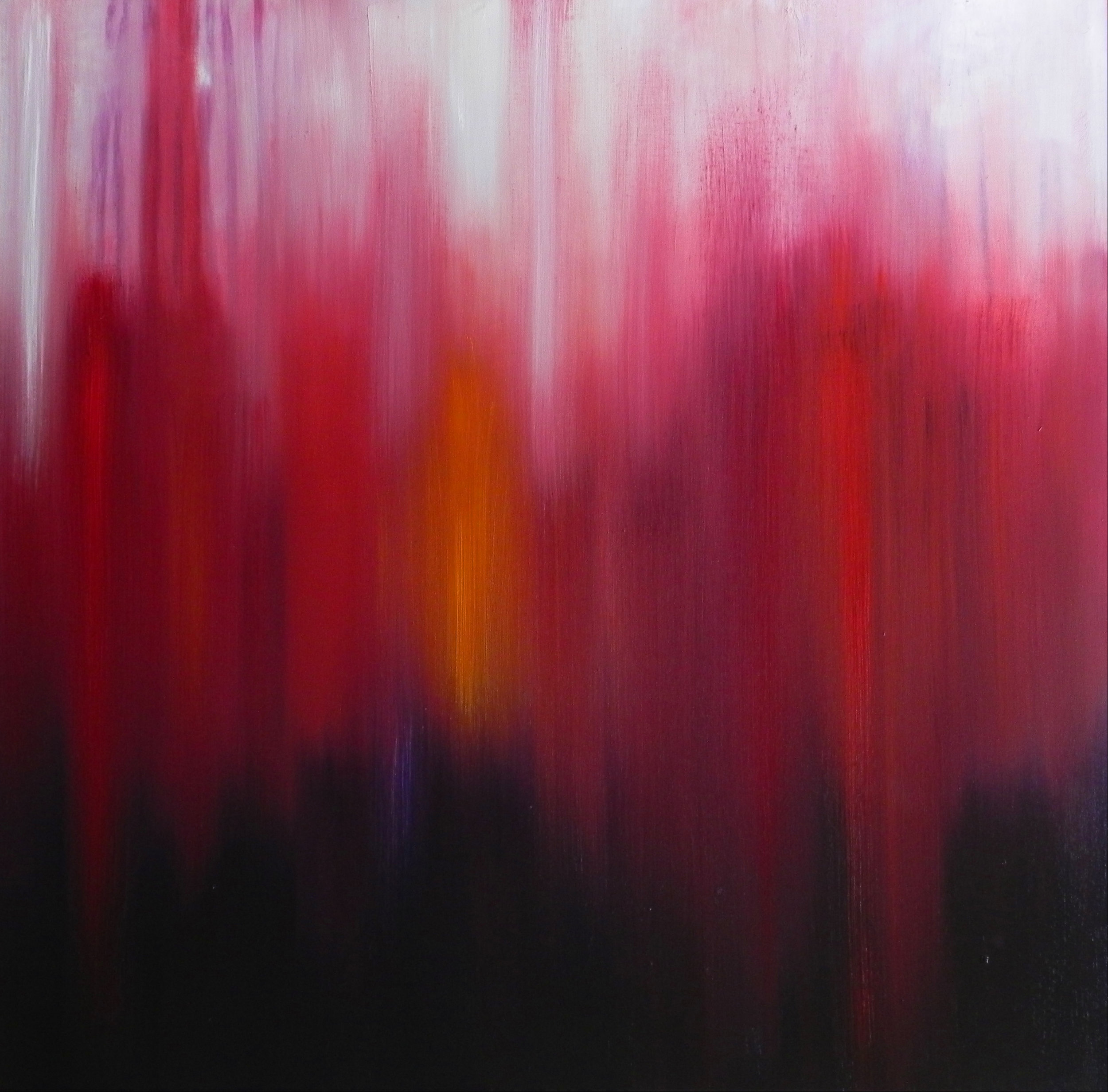 "EXHALE, 2013. 36"" X 36"". Oil on Canvas. Copyright © Karen Santos 2013. SOLD."