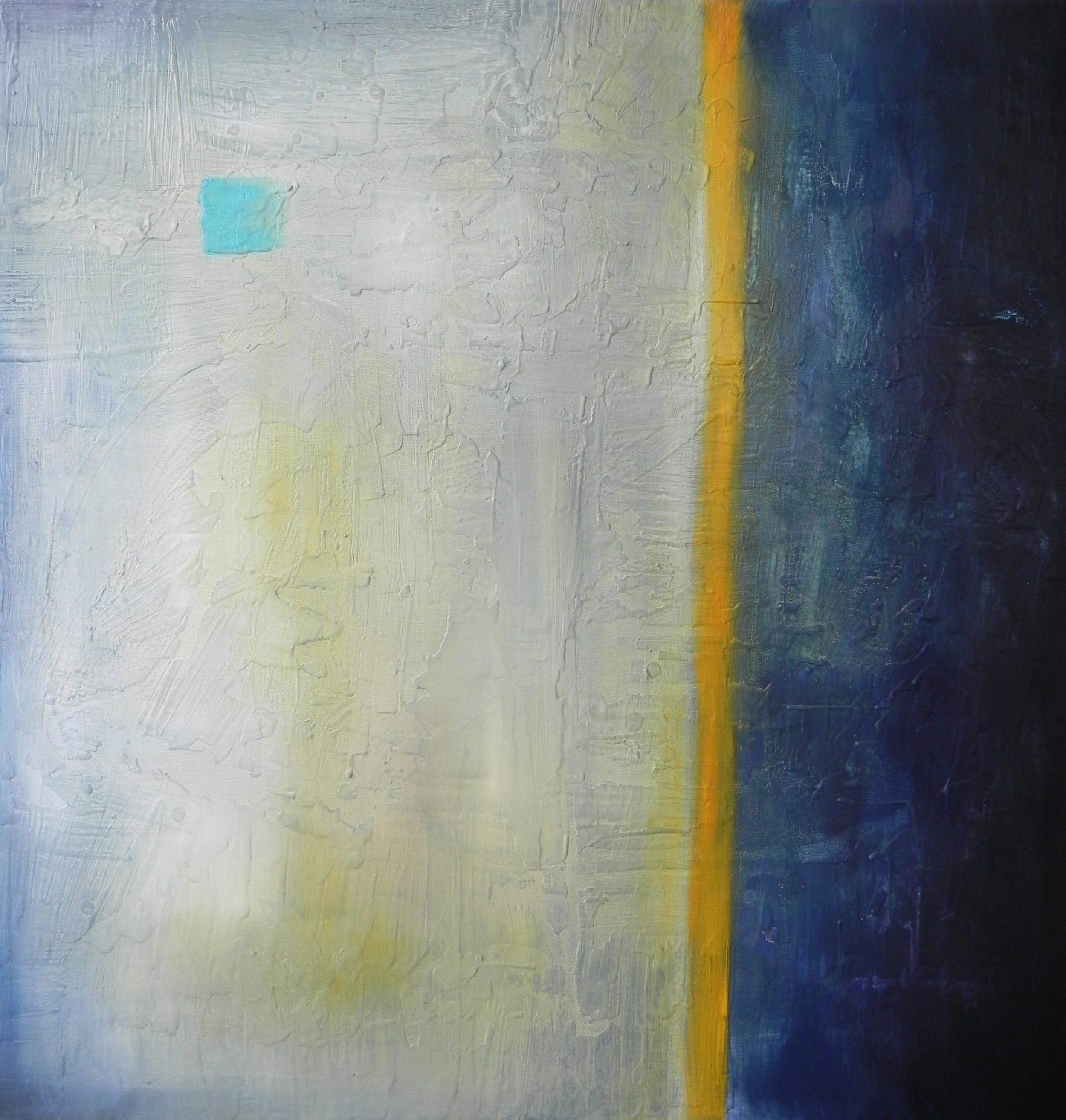"ISOLATION, 2014. 30"" x 30"". Cradled Wood Panel. Oil and Wax. Copyright © Karen Santos 2014."