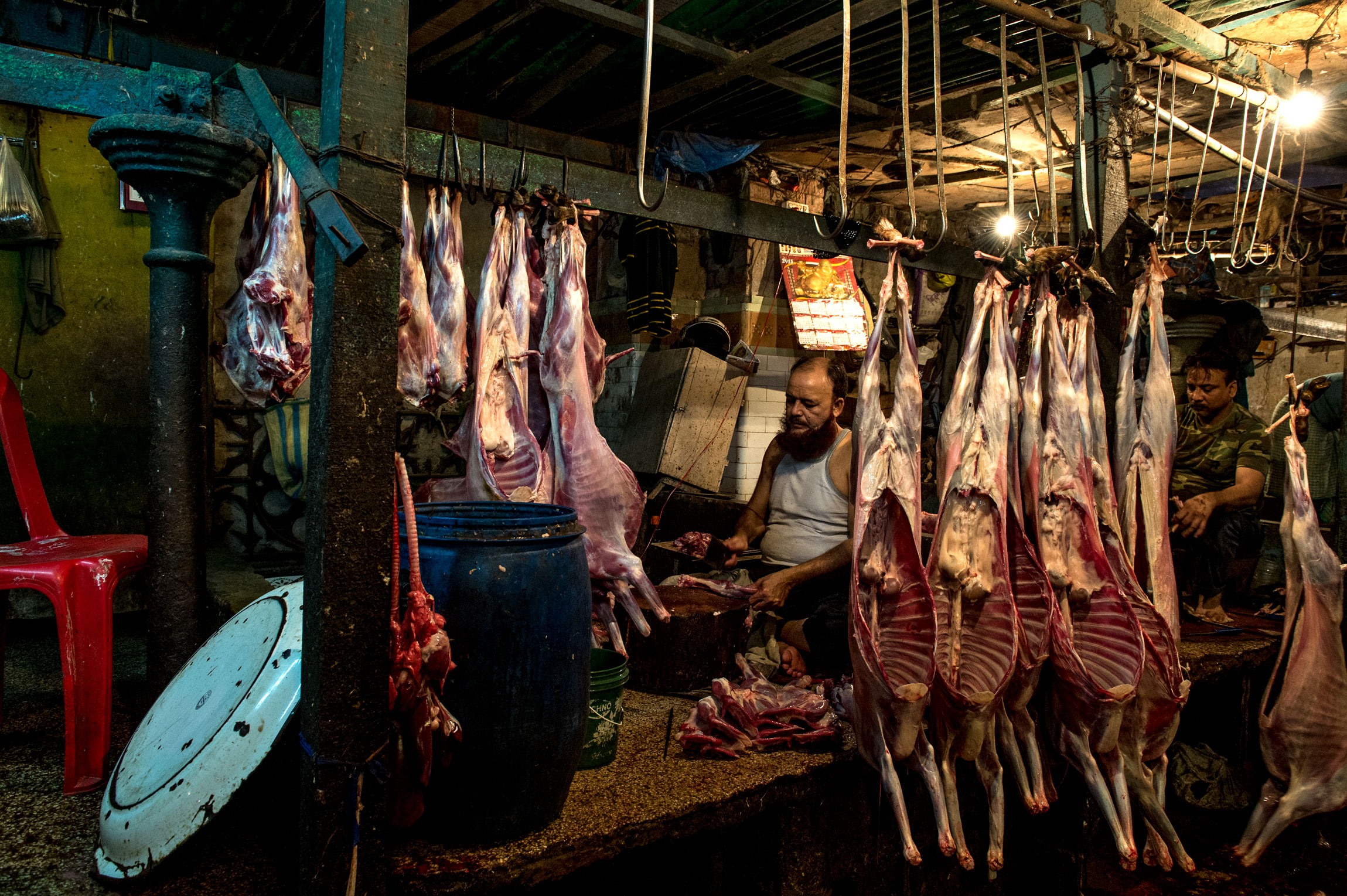 New Market Kolkata India slaughterhouse | since generations from father to son.