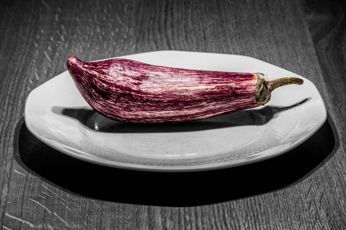 aubergine - listada de gandia