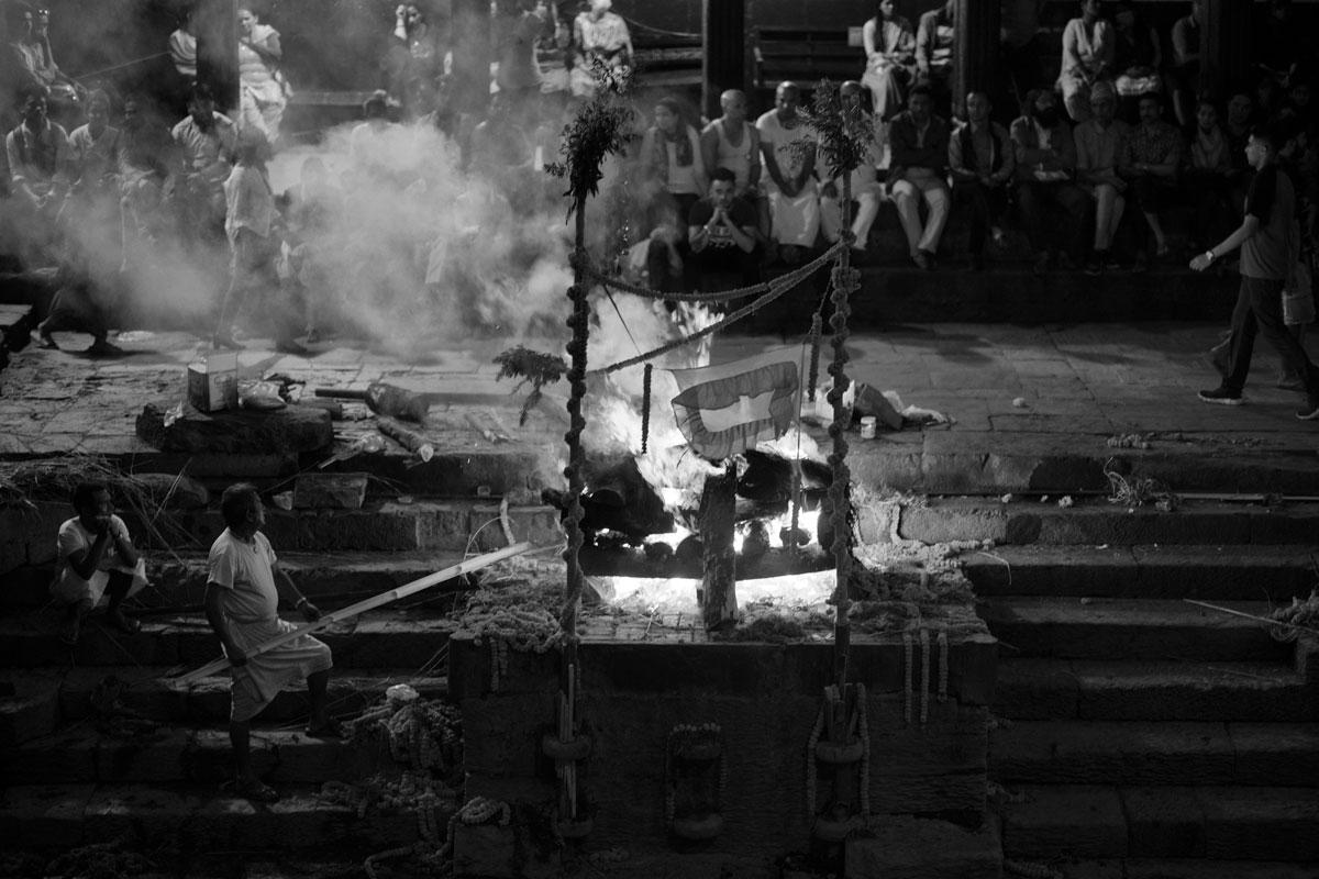 "Antyeṣṭi, ""last sacrifice""  Pashupatinat, on the banks of the Bagmati River,"