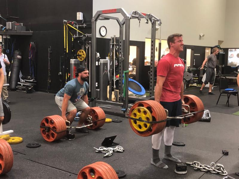 Lucas Sims and Tanner Roark of the Cincinnati Reds training for strength with the trap bar deadlift.    Strength is the foundation for power and safe weight lifting (squats, deadlifts, etc.) practices are the absolute gold standard to increase muscle mass, strength, and general athleticism.