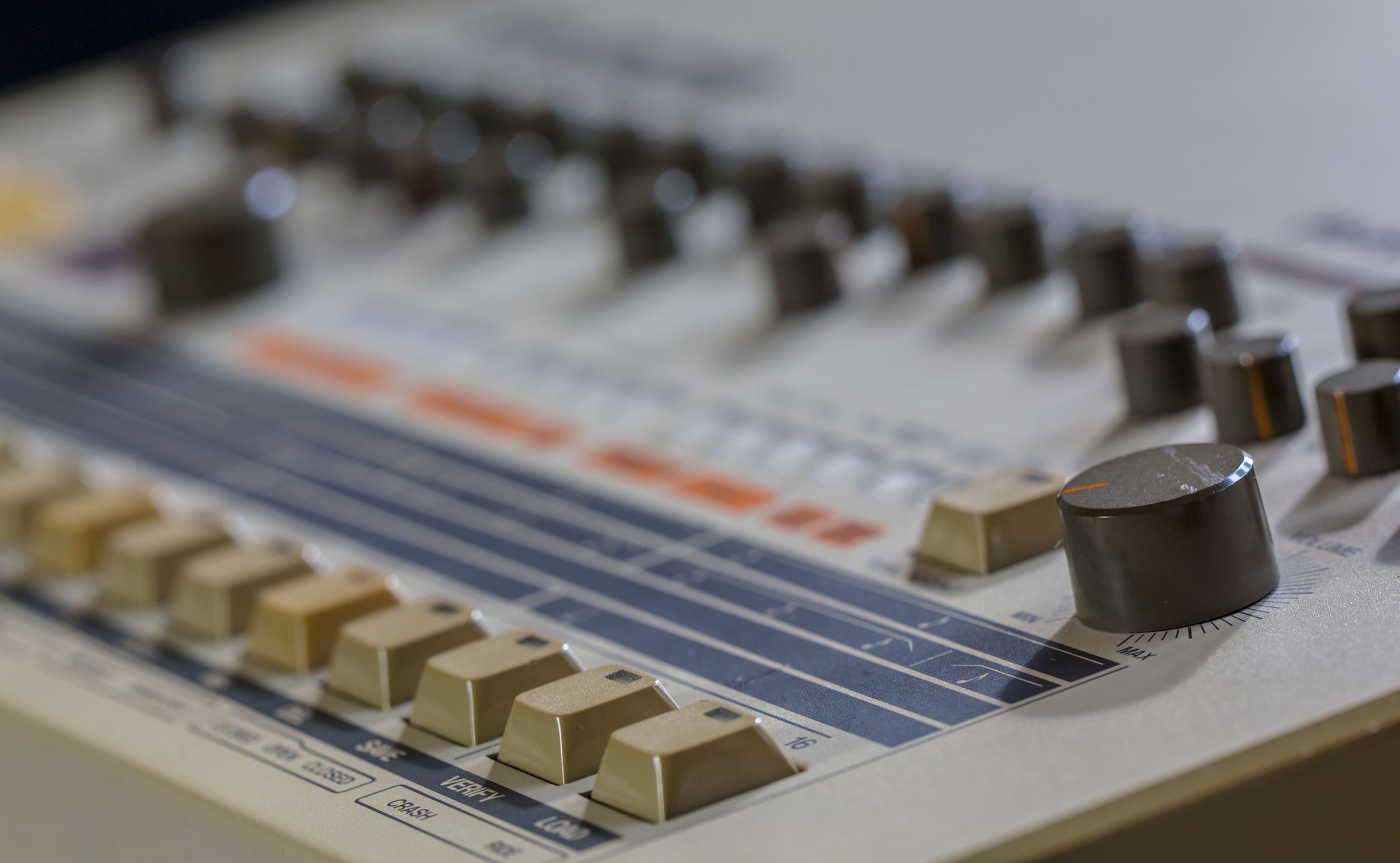 Ikutaro Kakehashi (Feb. 1930 - April 2017) is regarded as a pioneer for inventing synthesizers and drum machines, like the Roland 909 above,that are still used today and are sought after not only as music production tools but also as objets d'art.