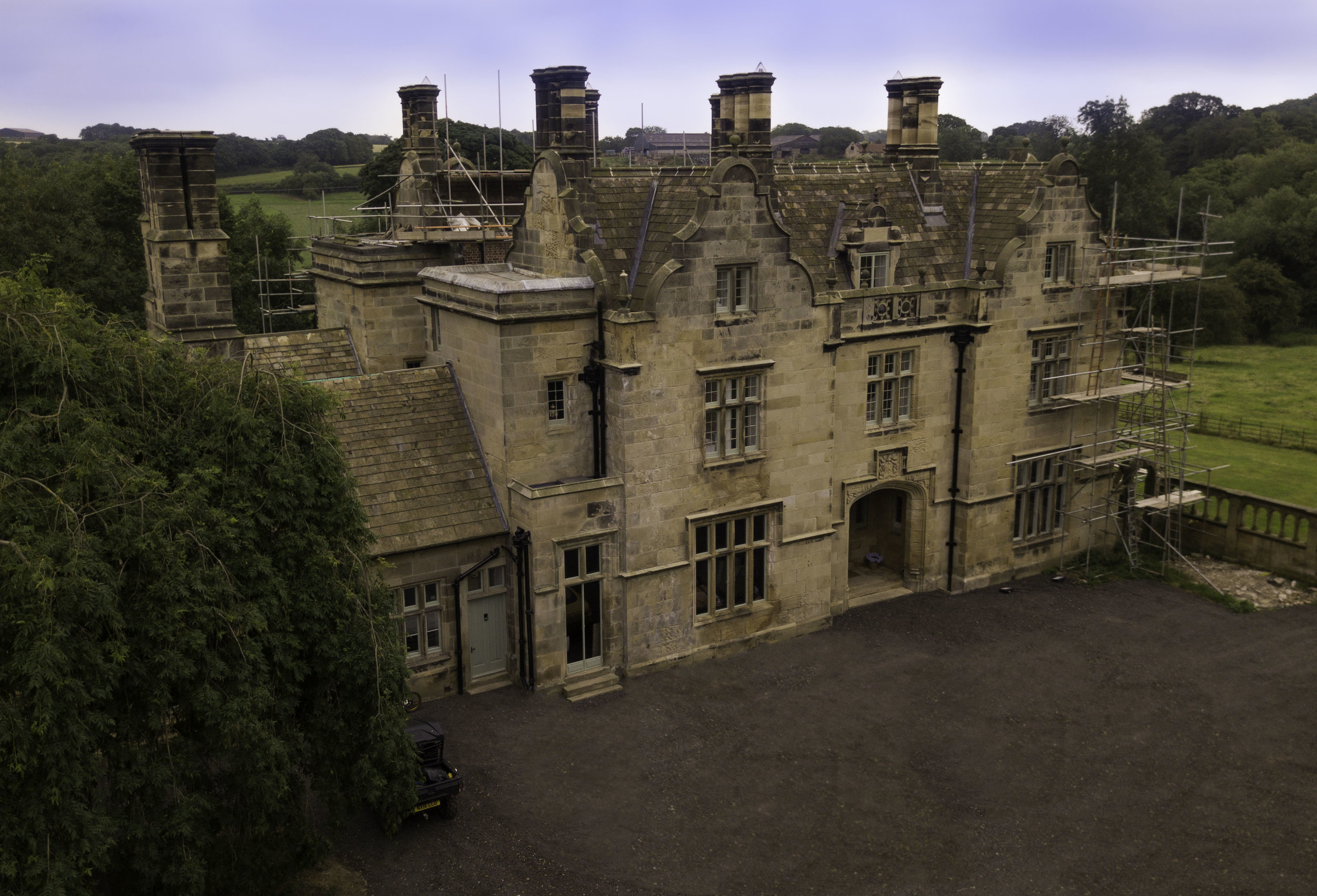 The major restoration of Grade II* Listed Sockburn Hall is nearing completion - July 2017