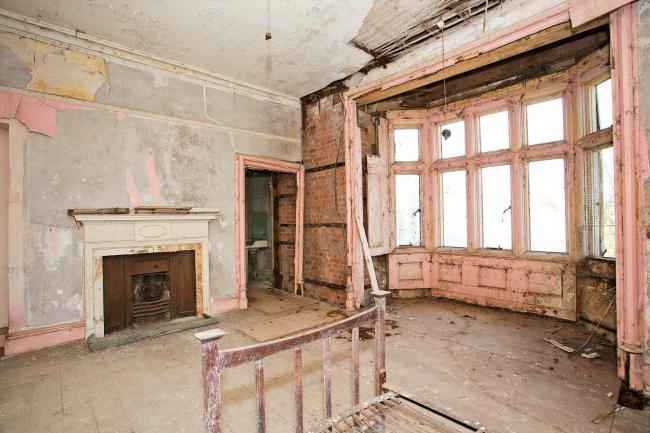 Bedroom prior to restoration