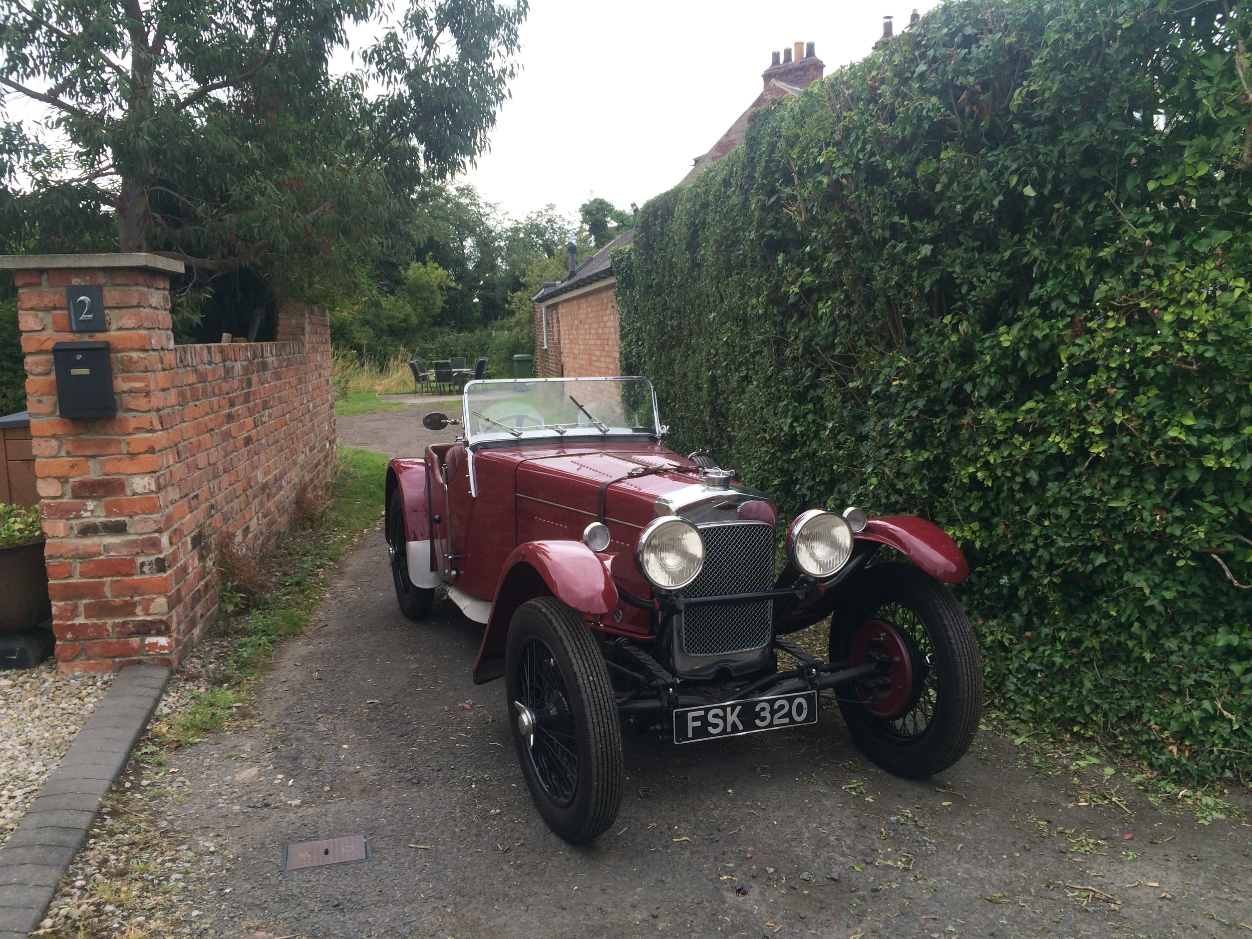 And in his spare time: one of Carl's vintage motorcar restoration projects.