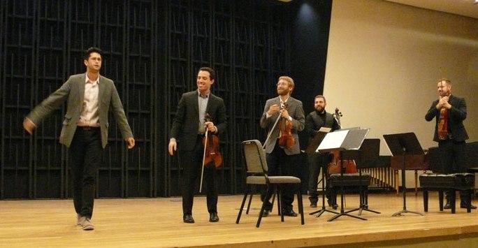 Joshua Marquez with the  JACK Quartet